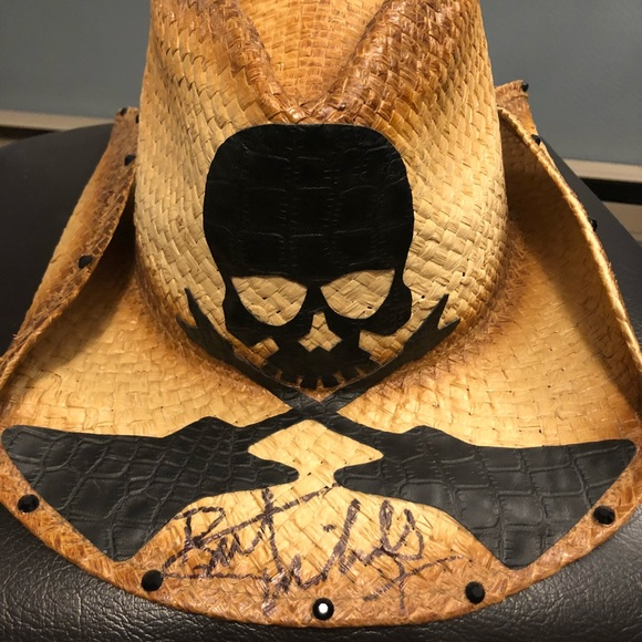 be0337c2736981 Accessories | Bret Michaels Autographed Cowboy Hat | Poshmark